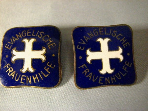 1015: TWO WWII GERMAN PORCELAIN PINS