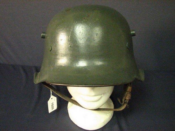 1025: RARE GERMAN WWI M-18 CUT OUT HELMET