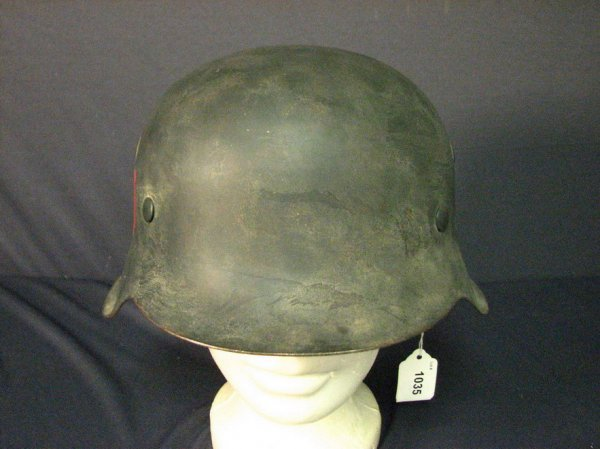 1035: WWII GERMAN FREE FRENCH M-42 COMBAT HELMET