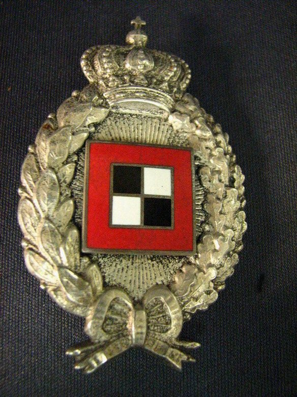 1083: WWI GERMAN IMPERIAL BAVARIAN OBSERVER BADGE