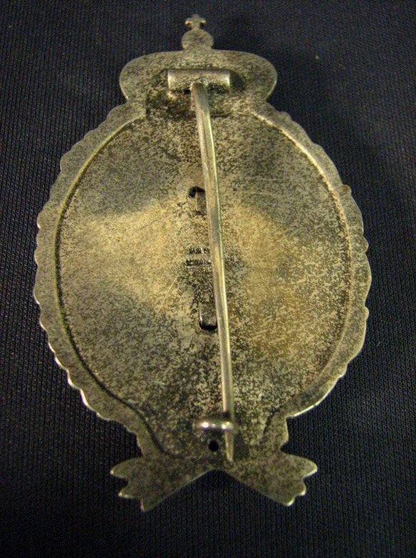 1083: WWI GERMAN IMPERIAL BAVARIAN OBSERVER BADGE - 2