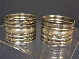 TWO STERLING NAPKIN RINGS
