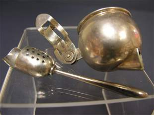 STERLING TEA STRAINER AND STERLING SCOOP