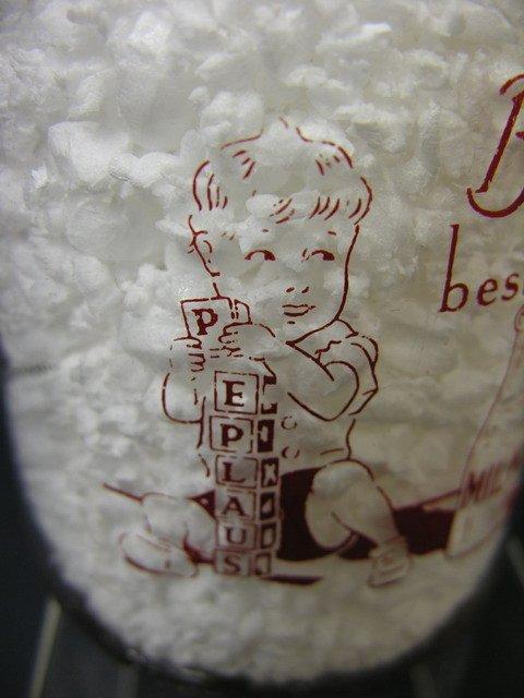 320: TRPQ BABY FACE MILK BOTTLE PEPLAUS DAIRY CONN - 4