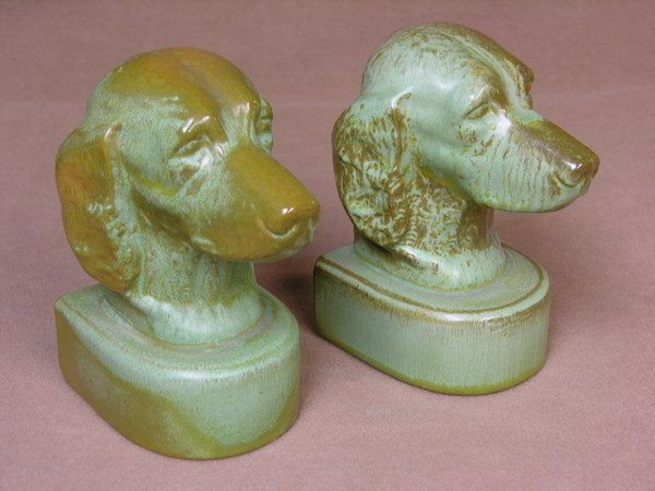 355: PAIR OF FRANKHOMA IRISH SETTER BOOKENDS