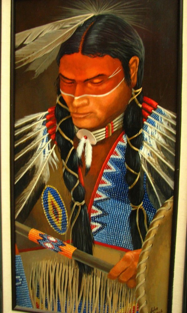 5: JOHN FRENCH NATIVE AMERICAN PAINTING Kiowa Dancer