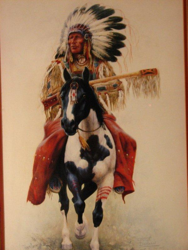 20: CHUCK DE HAAN INDIAN CHIEF ON HORSE