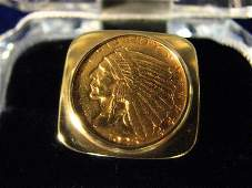 210: 14KT RING 1926 $2.5 GOLD COIN