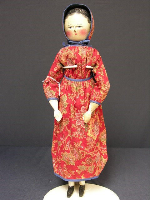 1386: LARGE HAND CARVED WOODED DOLL