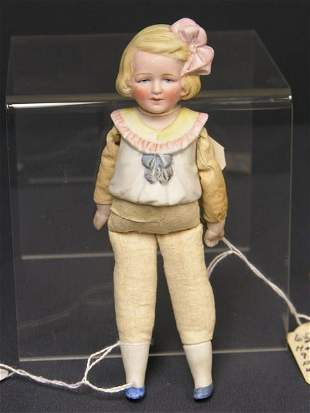 6 1/2 inch BISQUE 1/2 DOLL GERMANY