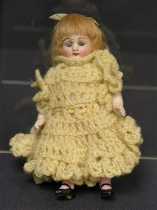 4 1/2 inch ALL BISQUE DOLL