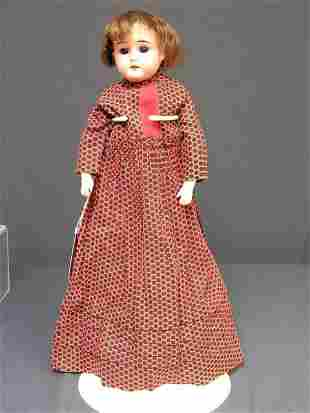18 inch BISQUE DOLL A.W.& CO. A Germany MO 1/2