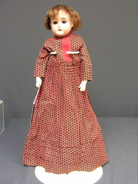 817: 18 inch BISQUE DOLL   A.W.& CO.  A  Germany MO 1/2