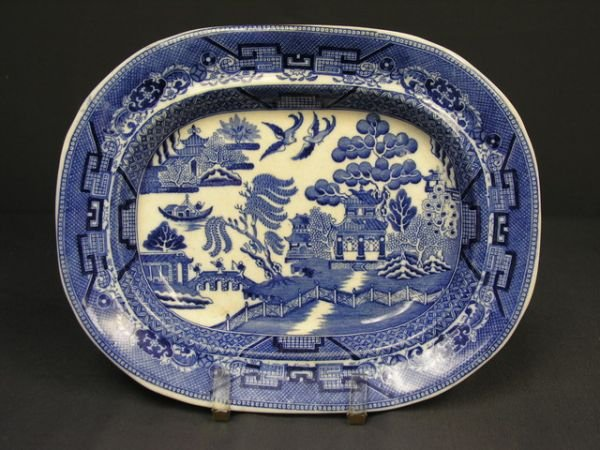 4: WEDGWOOD BLUE WILLOW OVAL PLATTER