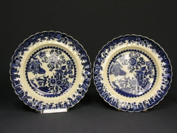 5: TWO COPELAND FLOW BLUE DINNER PLATES