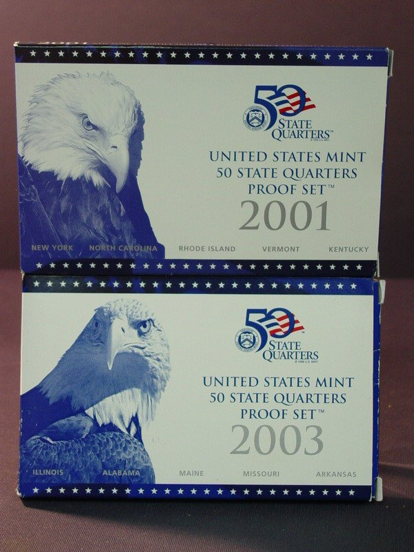 430: 2001 2003 U.S. QUARTER PROOF SETS