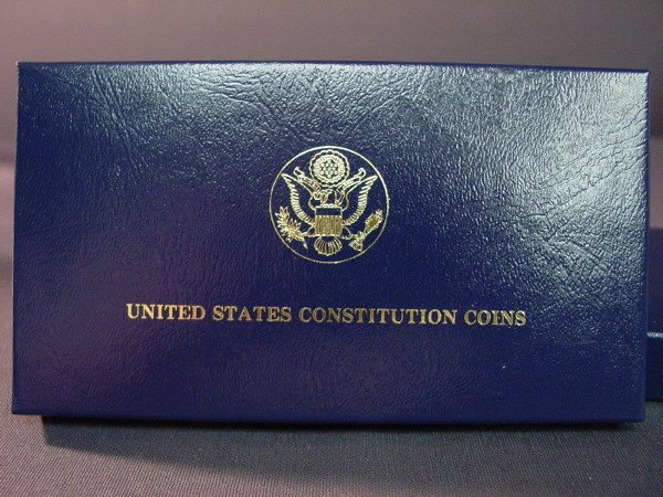 431: 1987 SILVER AND GOLD CONSTITUTION SET
