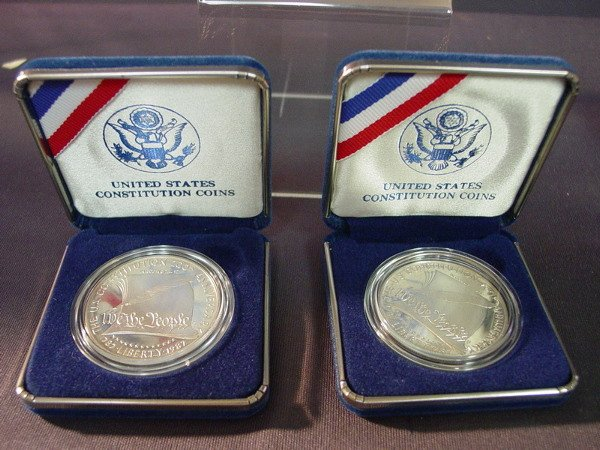 434: TWO(2) U.S. CONSTITUTION SILVER COINS