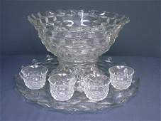 672 FOSTORIA AMERICAN PUNCH BOWL SET