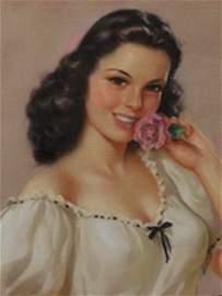 112: CALENDAR GIRL ART ORIGINAL JULES ERBIT 1948