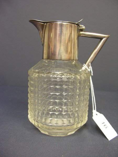 16: CUT GLASS SYRUP PITCHER