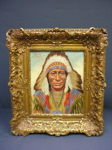 605: CHIEF IRON TAIL PORTRAIT BY EMIL LENDERS