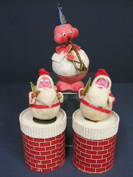 763: CHRISTMAS CANDY CONTAINER SPUN COTTON PAPER MACHE