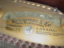 679: HEINTZMAN & CO Grand PIANO  CANADA  - 6