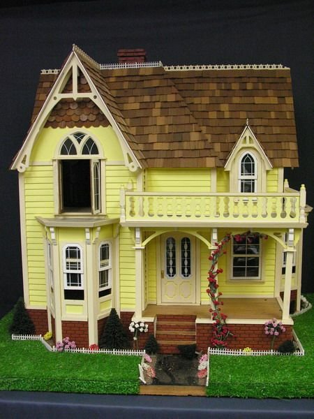 586: TWO STORY DOLL HOUSE HANDMADE