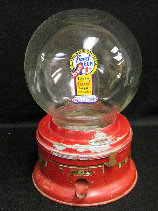1: FORD 1 CENT GUMBALL MACHINE