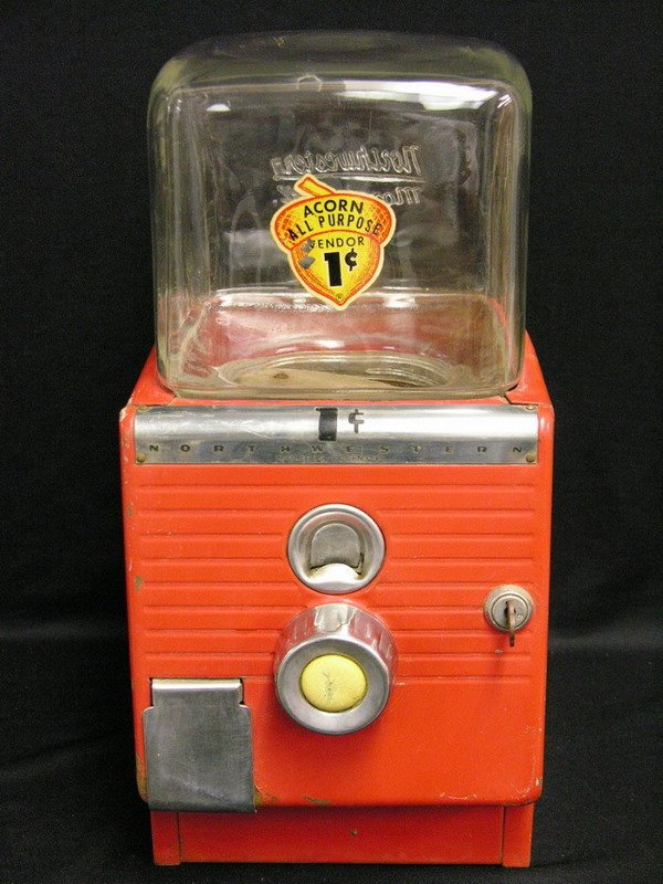 3: NORTHWESTERN 49 1 CENT PEANUT MACHINE