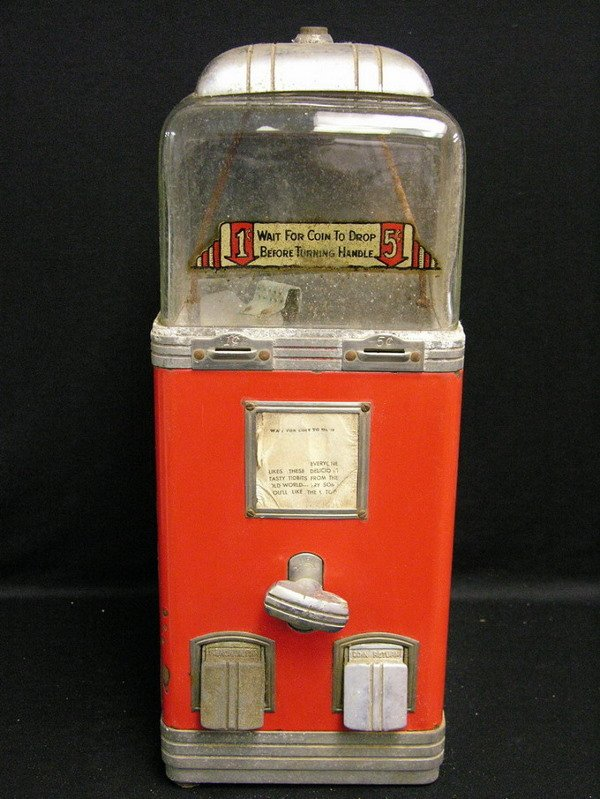 6: NORTHWESTERN PENNY NICKEL DELUXE PEANUT MACHINE