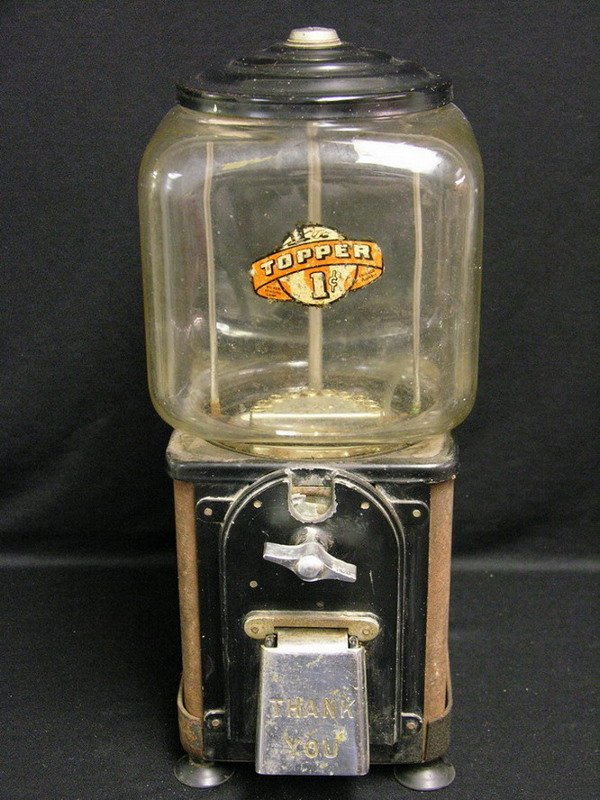 8: VICTOR TOPPER 1 CENT GUMBALL MACHINE