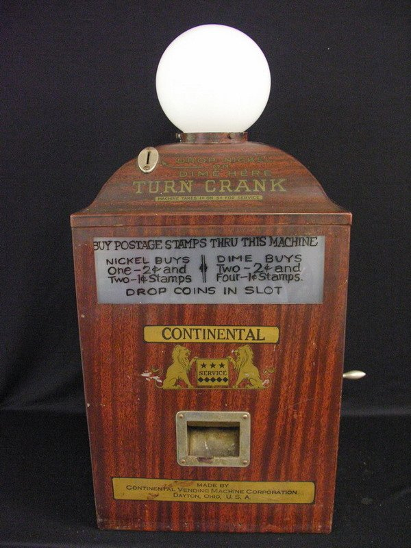 146: BUSHNELL MFG CO COIN OP STAMP MACHINE