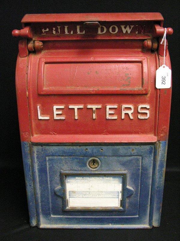 392 Vintage Cast Iron U S Mail Box