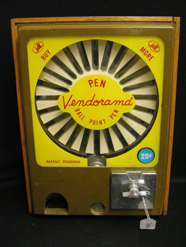 654: VICTOR VENDORAMA 25 CENT BALL POINT PEN MACHINE