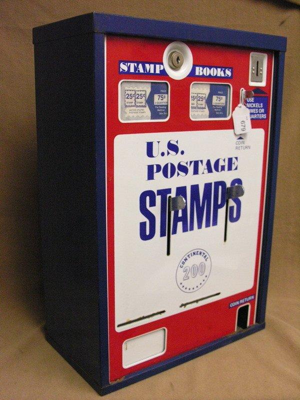 679: U.S. POSTAGE STAMP VENDING MACHINE PORCELAIN FRONT - 5