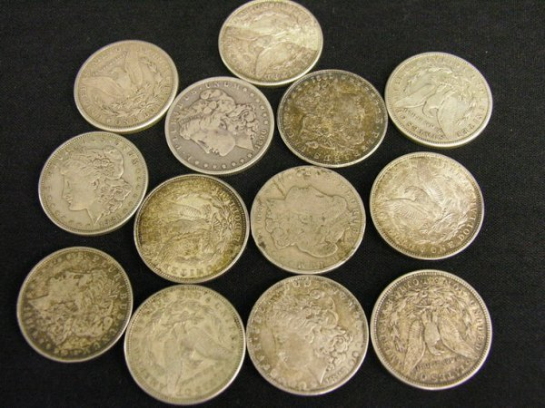 1003: 13 U.S. SILVER MORGAN DOLLARS ESTATE LOT