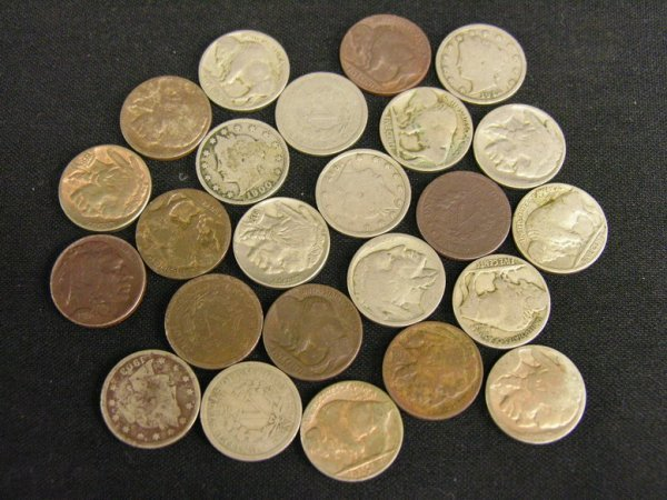 1008: 24 U.S. BUFFALO AND V NICKELS ESTATE LOT