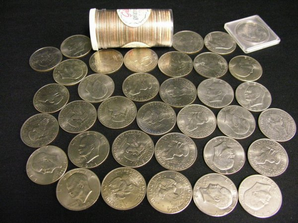 1017: 67 U.S. EISENHOWER DOLLARS ESTATE LOT