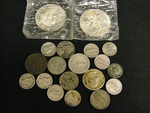 1019: MIXED ESTATE LOT MOSTLY SILVER COINS