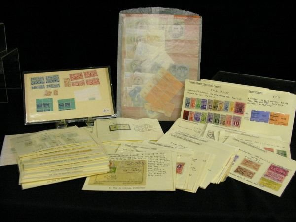 1092A: ESTATE LOT FISCAL STAMPS AND OTHERS