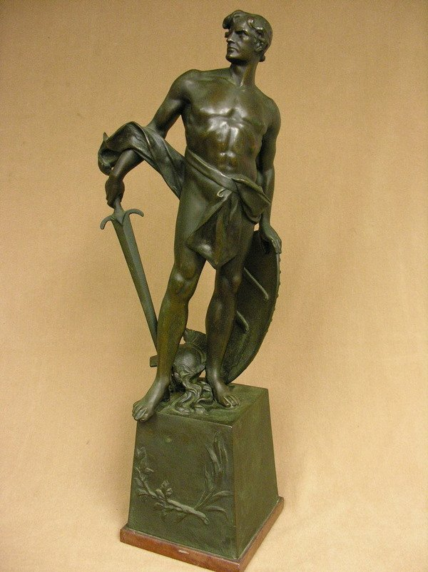14: GERMAN BRONZE GLADIATOR OR ROMAN SOLDIER