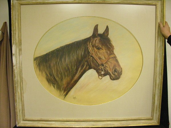 20: LOUIS LUPAS PORTRAIT OF RACEHORSE ROUND TABLE