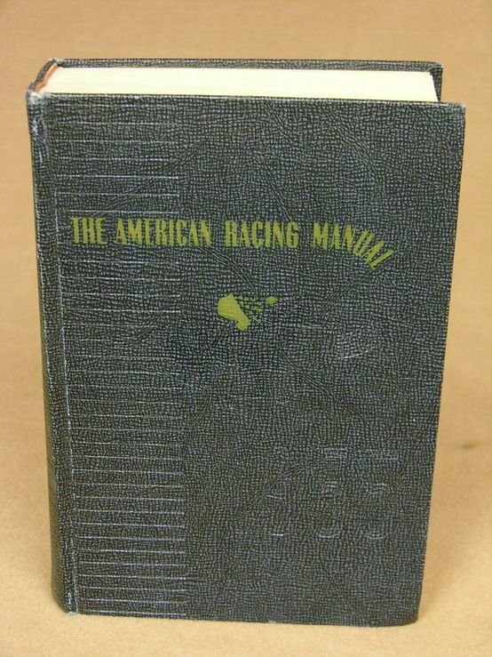 21A: AMERICAN RACING MANUAL HARDBOUND BOOK 1955