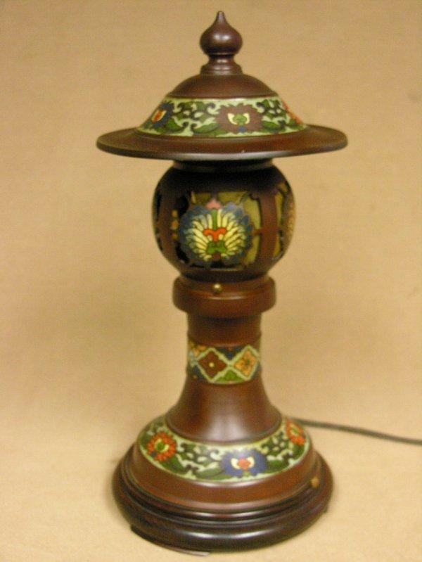 512: JAPANESE CLOISONNE TABLE LAMP