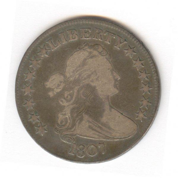 520: 1807 DRAPED BUST HERALDIC EAGLE U.S. HALF DOLLAR