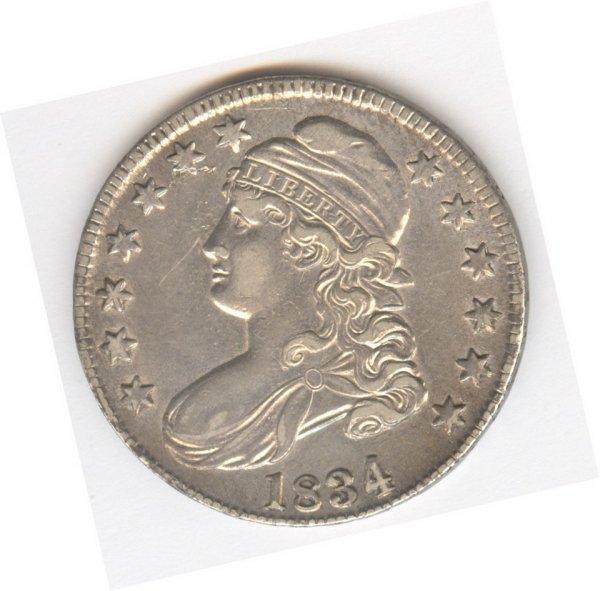 521: 1834 LIBERTY CAP BUST HALF DOLLAR