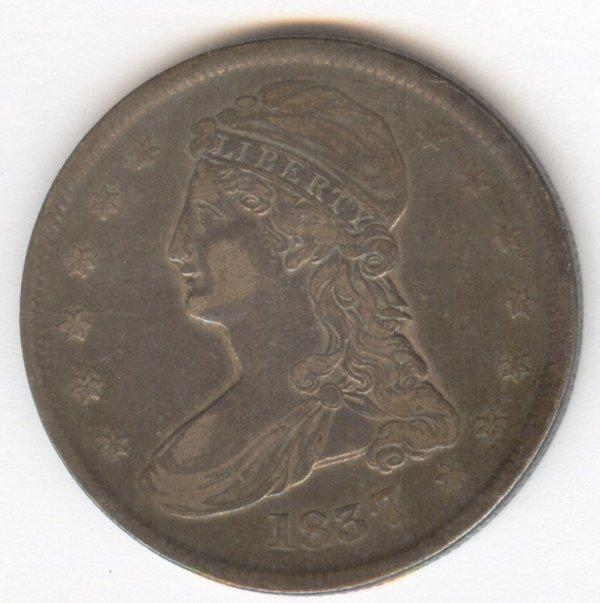 523: 1837 U.S. BUST HALF DOLLAR