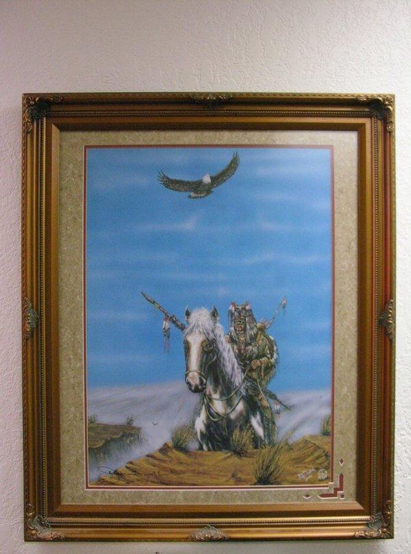 650: JEROME BUSHYHEAD NATIVE AMERICAN PRINT